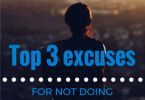 Top 3 excuses for not doing my workout today