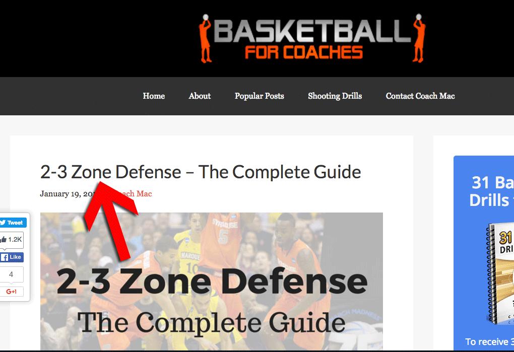 2-3 zone