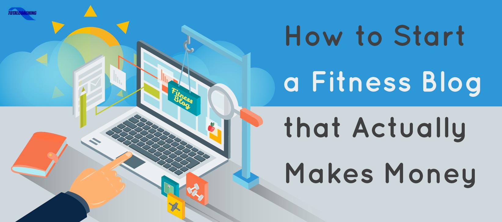 Start a fitness blog