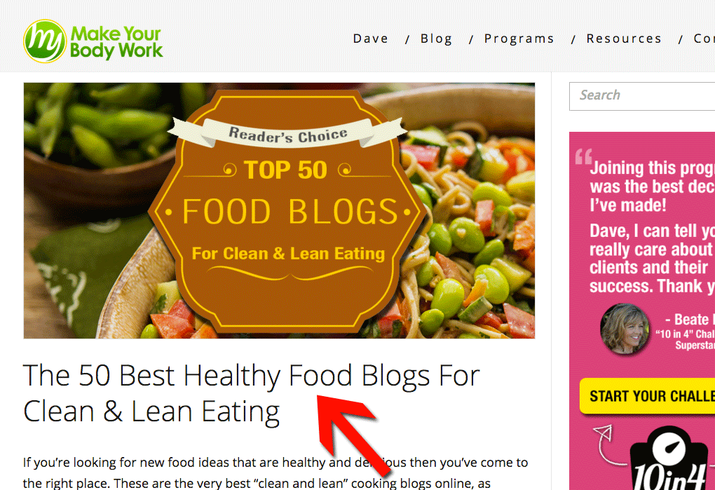 Healthy Food Blogs