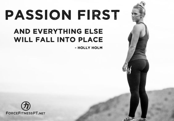 Passion first